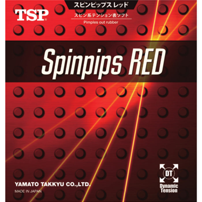 TSP Spinpips Red Short Pips Ping Pong Rubber
