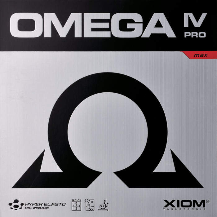XIOM Omega IV Pro Version Offensive Table Tennis Rubber