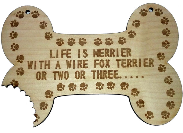 Wire Fox Terrier Wall Plaque - Bespoke Laser Cutting And Engraving - 1
