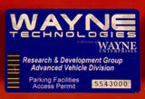 Wayne Technologies Parking Decal (Batman)