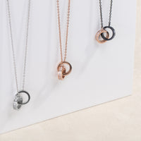 black rose gold pendant necklace stones T313P005NORO MIAJWL
