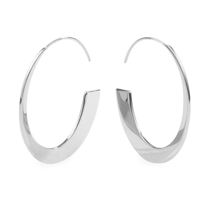 stainless steel retro modern hoop earrings hypoallergenic T119E002AR MIA JEWELRY