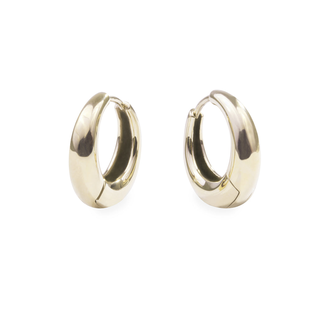 Small gold puffy hoop earrings hypoallergenic T119E003DO MIA JEWELRY