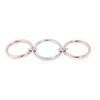 rose gold stainless steel ring with hoops T119R001ARRO MIA JEWELLERY