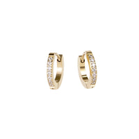 small half eternity huggie earrings stainless steel hypoallergenic mia jewelry petites boucles d'oreilles dormeuse pierres acier inoxydable T120E009DO