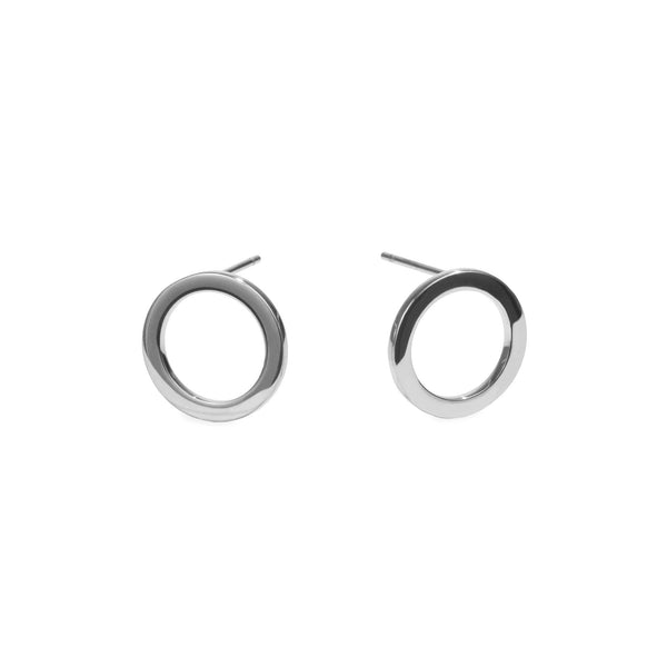 women stainless steel circle stud earrings boucles oreilles cercle femme acier inoxydable MIA Jewelry T120E005