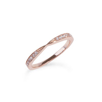 women stainless steel eternity proposal rose gold ring bague éternité fiançailles or rose pierres acier inoxydable femme MIA T120R007DORO