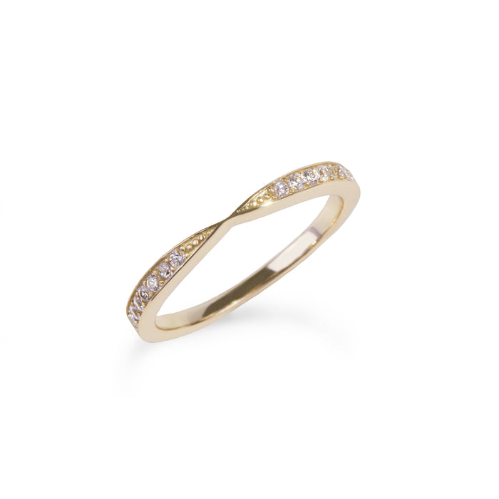women stainless steel eternity proposal gold ring bague éternité or fiançailles pierres acier inoxydable femme MIA T120R007DO