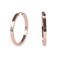 35mm plain modern hoop earrings rose gold T218E009DORO MIAJWL