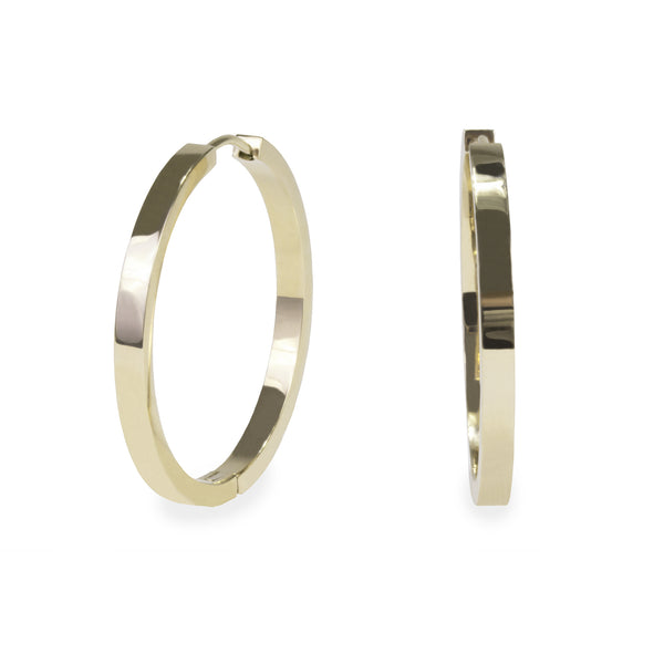 35mm plain modern hoop earrings gold T218E009DO MIAJWL