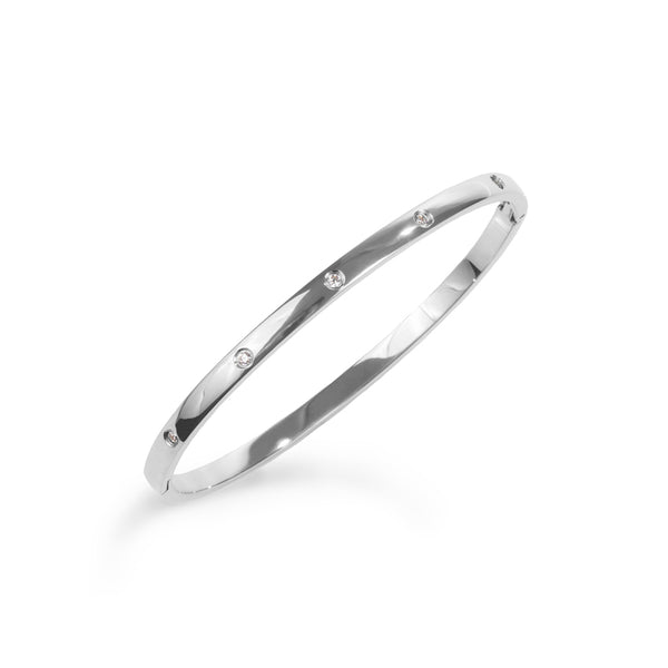 stones bangle bracelet stainless steel bracelet acier inoxydable MIA T219B001