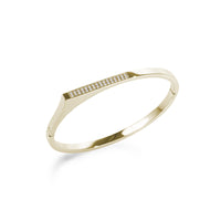 asymetric stones bangle stainless steel bracelet acier inoxydable MIA  T219B004