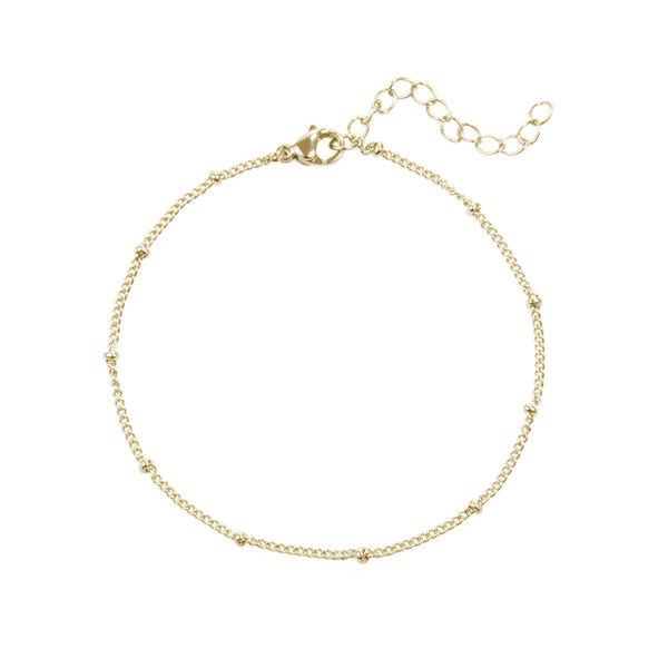 beads ankle chain stainless steel chaîne cheville acier inoxydable MIA T219C095