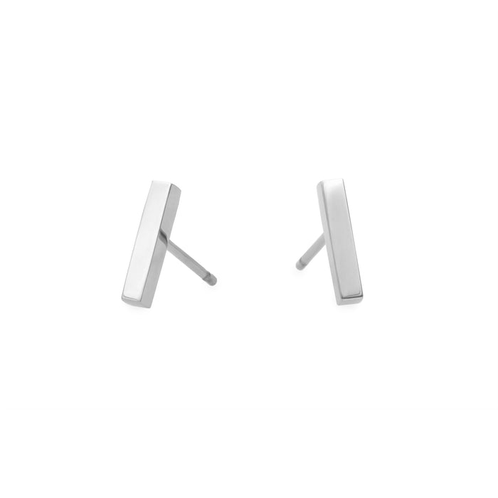 Minimal bar stud earrings stainless steel Boucles d'oreilles acier inoxydable MIA T219E002