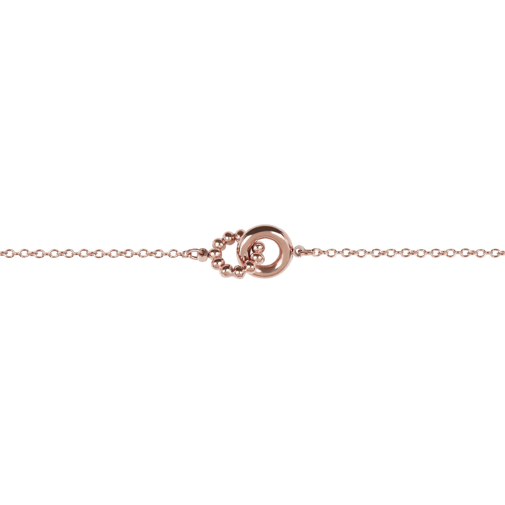 Rose gold double circle beads stainless steel bracelet double ronds or rose billes acier inoxydable MIA