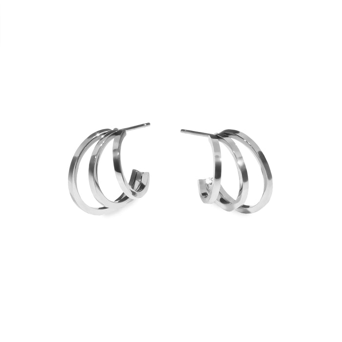 3 row hoop earrings