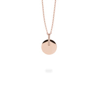 Retro round bar pendant necklace
