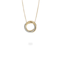 Twisted circle pendant necklace