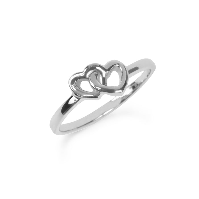 Double heart stainless steel ring bague double coeur acier inoxydable MIA