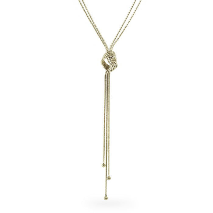 gold long necklace knot stainless steel T314N002DO MIAJWL