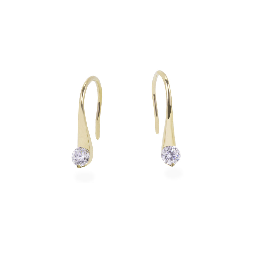 gold stone drop earrings stainless steel T318E002DO MIAJWL
