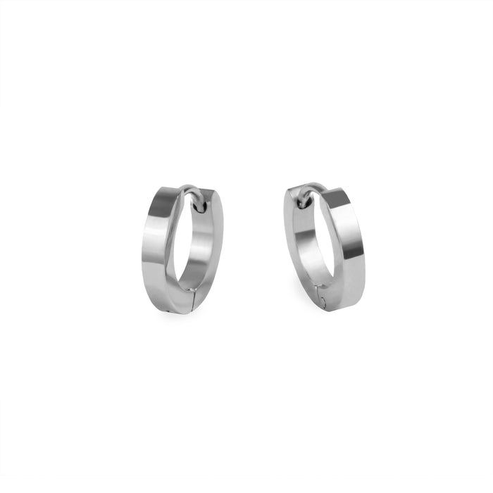 women small huggie earrings stainless steel hypoallergenic mia jewelry petites boucles d'oreilles femme dormeuse acier inoxydable hypoallergénique T320E007