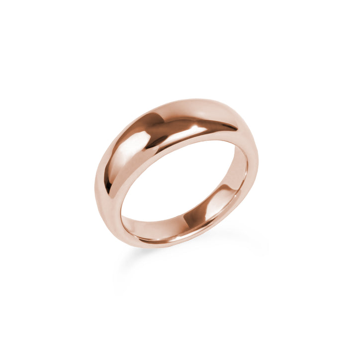 Rose gold stainless steel hypoallergenic puffy dôme ring mia jewelry bague or rose femme acier inoxydable hypoallergénique T320R004