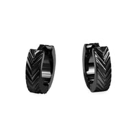 hypoallergenic black huggie earrings T411E034NO MIA