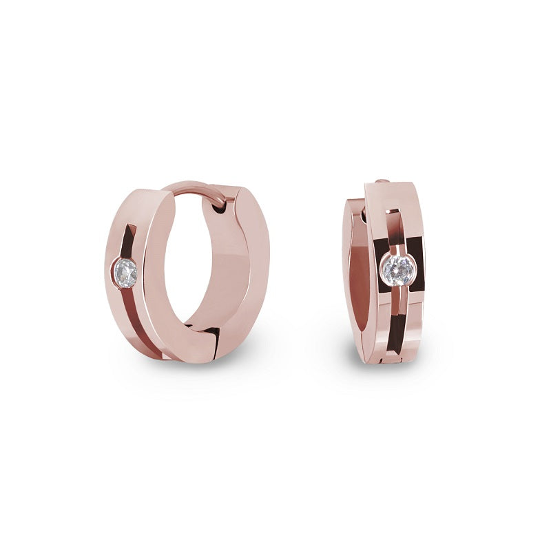 hypoallergenic rose gold earrings for girls T411E035DORO MIA