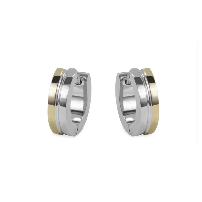 small-stainless-2tons-huggies-earrings-hypoallergenic-petites-boucles-oreilles-dormeuses-2tons-acier-inox-hypoallergéniques-T411E053-MIA