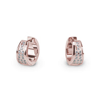 hypoallergenic chic rose gold hoop earrings T416E007DORO MIA