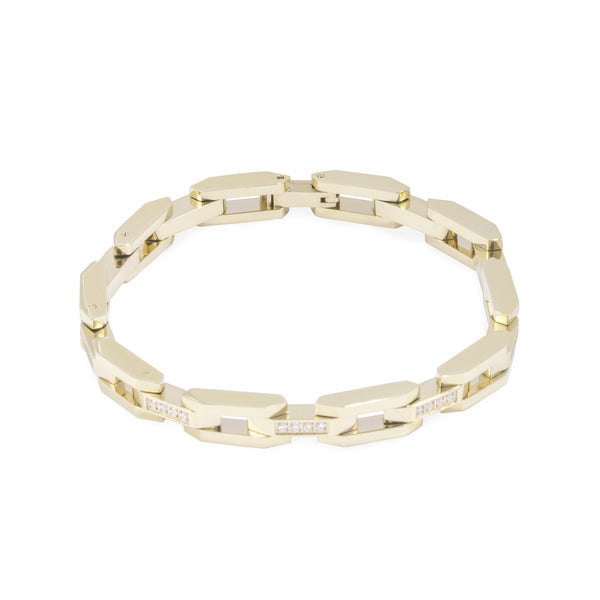 Gold bracelet for women with stones- T418B003DO