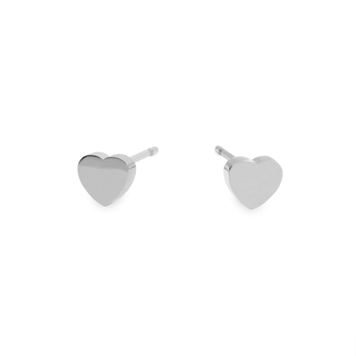 stainless small plain heart T418E001AR MIA