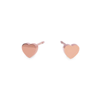 stainless small plain rose gold heart T418E001DORO MIA