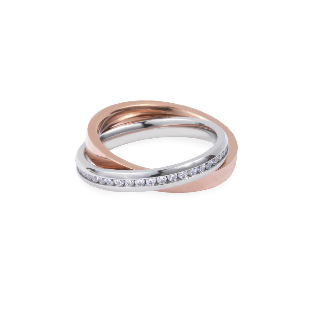 modern ring stones stainless steel hypoallergenic T418R005ARRO