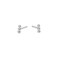 small beads stud earrings stainless steel MIA petites boucles d'oreilles billes acier inoxydable T419E003AR