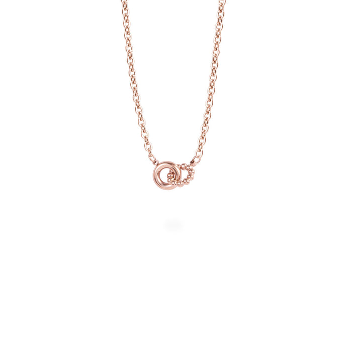 rose gold delicate pendant necklace stainless steel pendentif collier delicat acier inoxydable MIA T419P003DORO