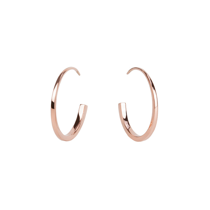 Anchor hoop earrings