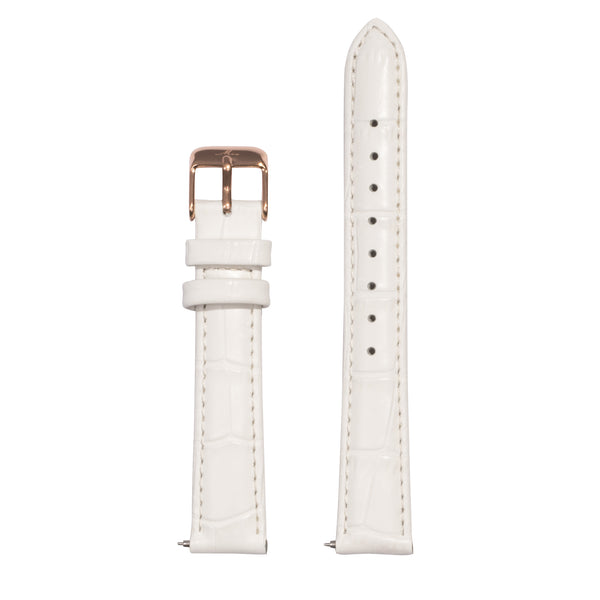 minimal white crocodile print bracelet for women - W119B01WH