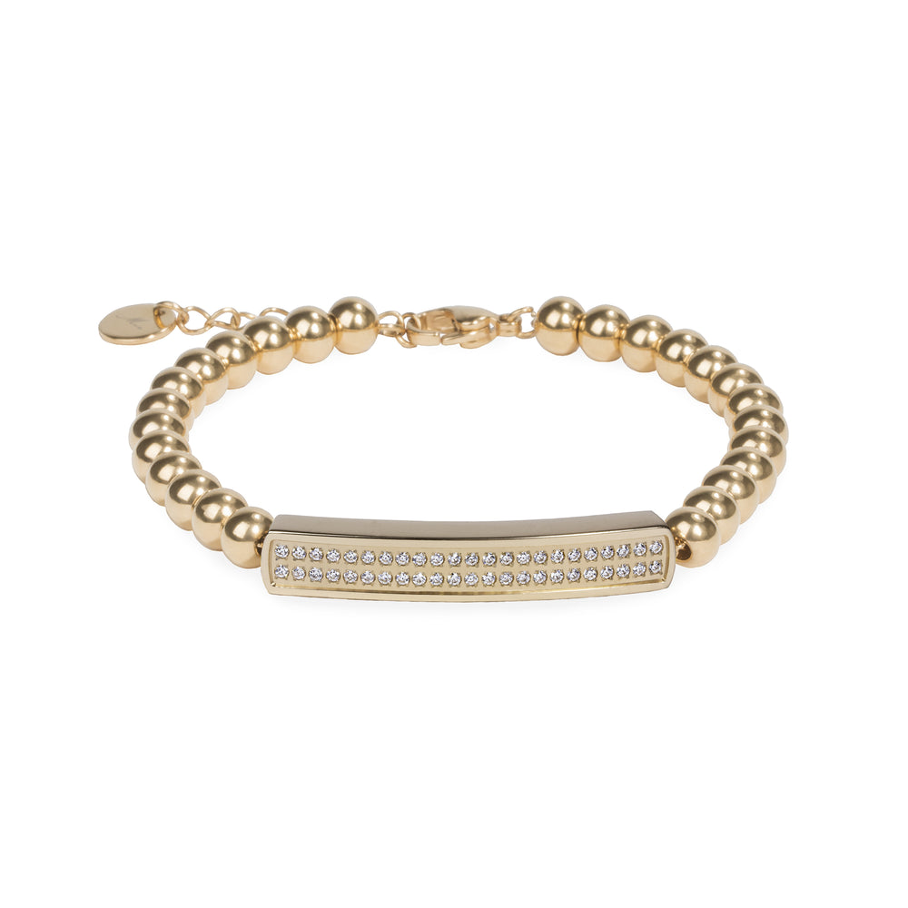 stainless steel gold beads bracelet for women