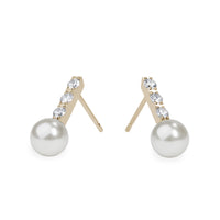 pearl and stones earrings for women