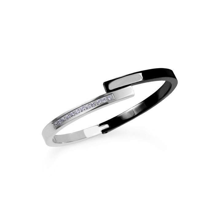bangle designers bracelets s and correia rubber chris jewelry platinum bangles black diamond b