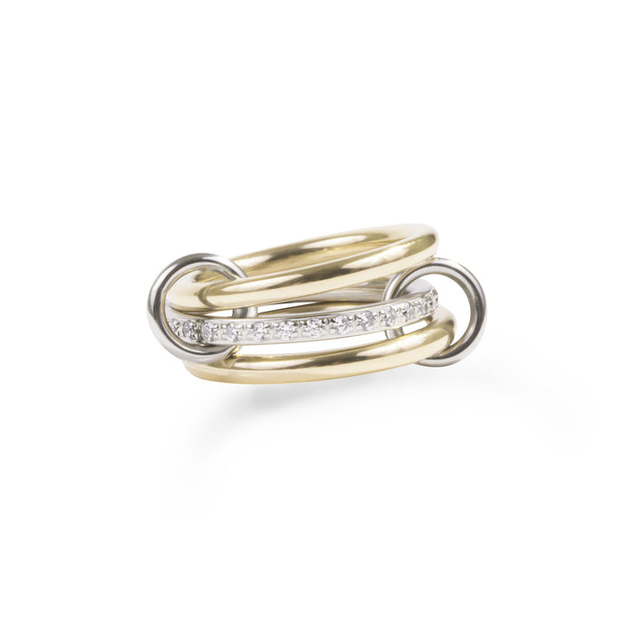 gold stainless steel ring with hoops T119R001ARDO MIA JEWELLERY
