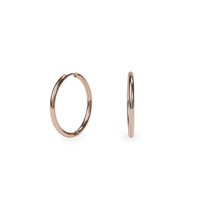 rosegold-plain-hoop-earrings-hypoallergenic-stainless-T217E003DORO-MIA