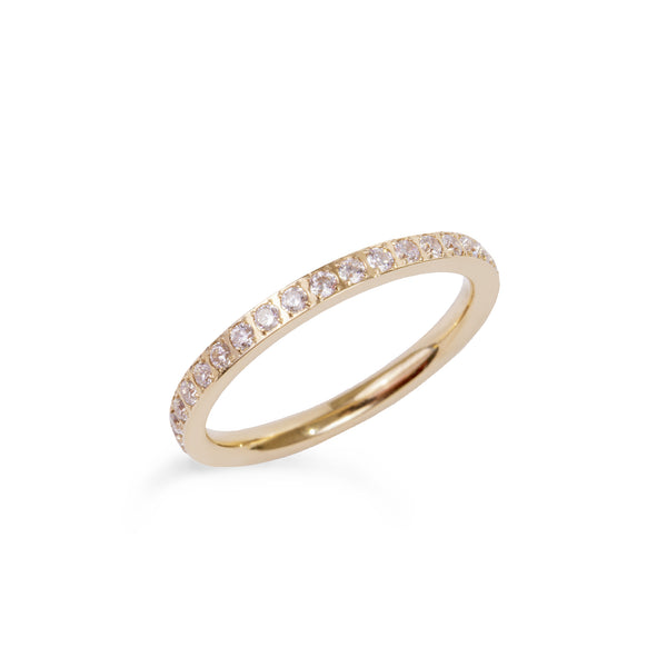 gold thin eternity ring stainless steel bague éternité acier inoxydable or MIA T419R001