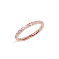 rose gold thin eternity ring stainless steel bague éternité acier inoxydable or rose cuivre MIA T419R001
