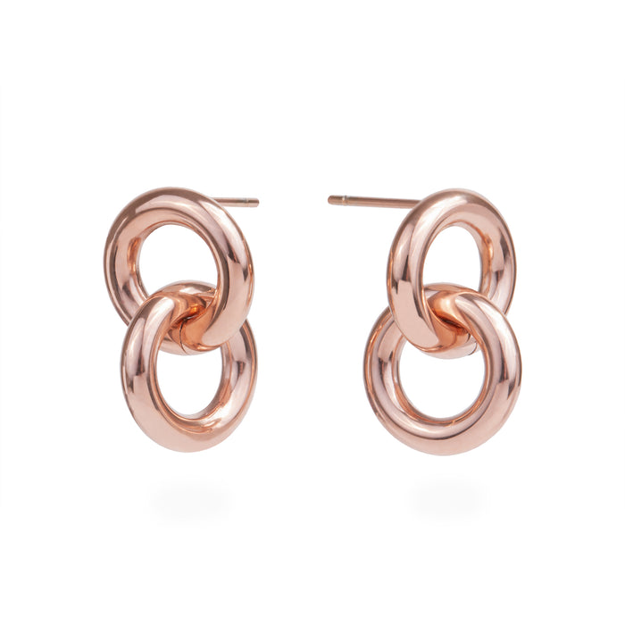 double hoop earrings stainless steel boucles d'oreilles cercles acier inoxydable MIA T319E004
