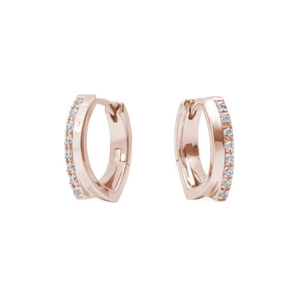 hypoallergenic triangle stainless steel huggie earrings boucles oreilles acier inoxydable hypoallergènes T219E005 MIA