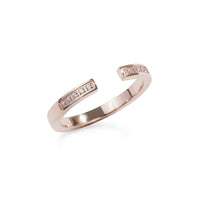 rose gold open ring stones stainless steel T119R003DORO MIA Jewelry