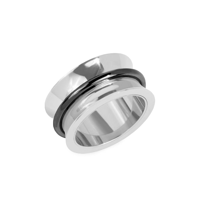 large minimal stainless steel ring women bague acier inox femme MIA T319R001